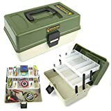 Ace Angling™ Fishing Tackle Box 2 Tray Cantilever 'Tough Box' Sea Coarse Game Fishing