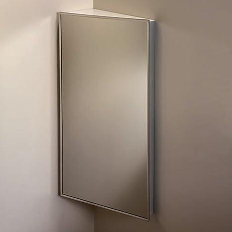 Broan-NuTone 860P36CH Corner Single-Door Surface Mount Medicine Cabinet with 3-Shelves