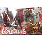 The Legends of Knights Medieval Kingdom Gatehouse Attack Catapulte-Coffret neuf