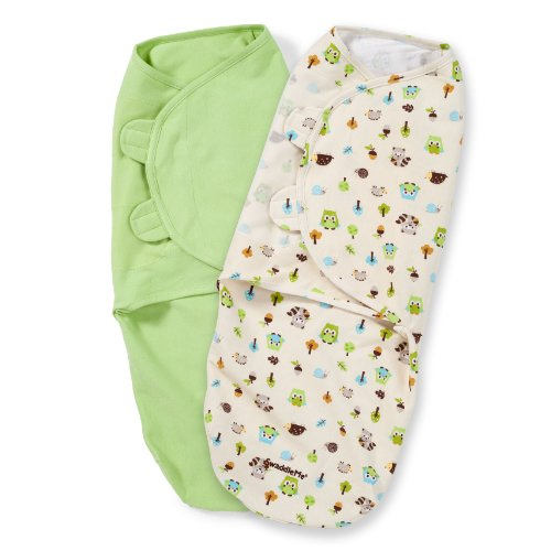 Summer Infant SwaddleMe Adjustable Infant Wrap, Woodland Friends, 2 Count