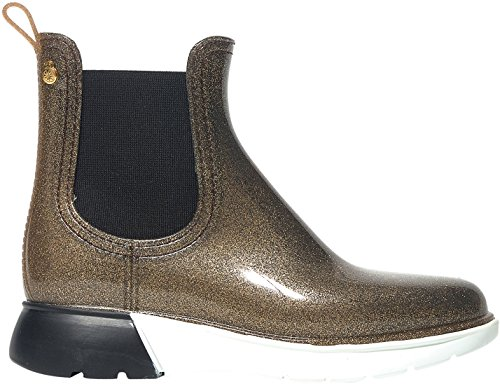 Lemon Jelly Women's Wing Women's Golden Glitter Boots In Size 40 Gold