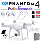 DJI Phantom 4 QuadCopter Pro GPS Phantom4 w/ 4K HD Camera & Gimbal + 2 Free SanDisk 64GB microSD + 2 EXTRA Drone Intelligent Flight BATTERY Fedex EXPRESS