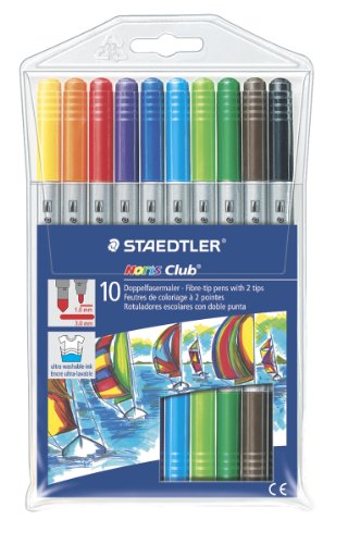 staedtler-noris-club-double-ended-fibre-tips-pack-of-10-320nwp10