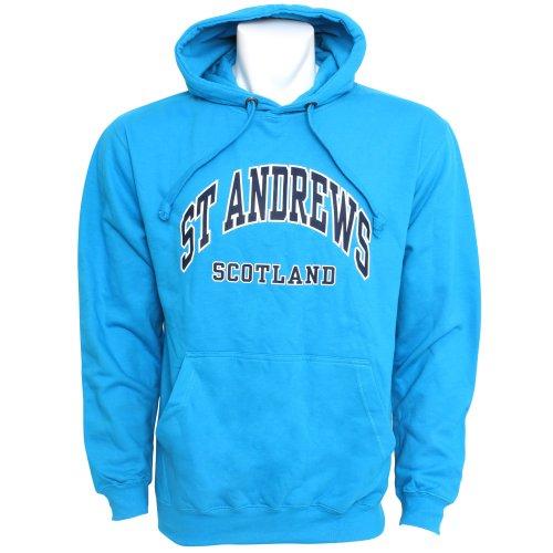 Mens St Andrews Scotland Print Hooded Sweatshirt Jumper/Hoodie (S - 34inch - 36inch) (Blue)