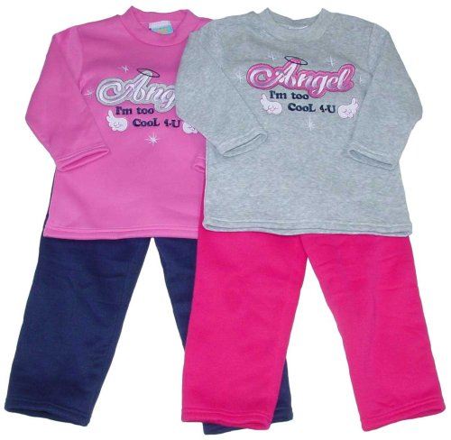 "Buy Girls' ""Angel"" Two-Piece Pant Set with Applique"