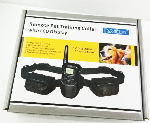 Rocket Remote Pet Trainer Lcd Display Dog Electric Training Collar With Remote Controller