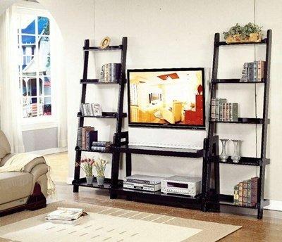 Cheap Bernards 7742, 7743 TV Stand and Shelf Unit-3 pieces in Black Finish (B002SFH31O)