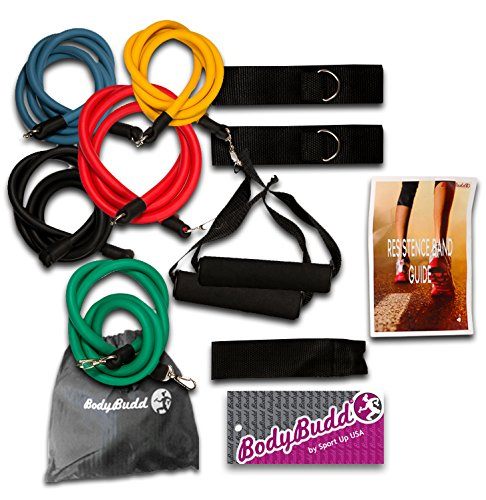 BodyBudd-12-Piece-Resistance-Band-Set-with-Door-Anchor-Pouch-and-Guide
