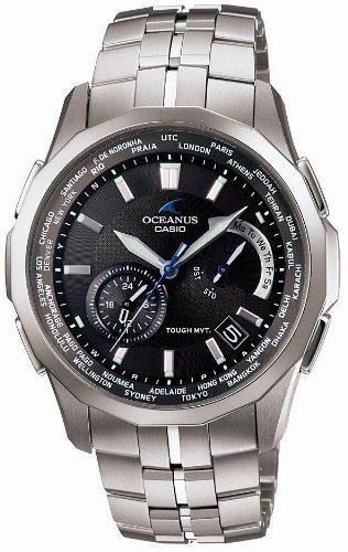 CASIO (カシオ) 腕時計 OCEANUS Manta オシアナス マンタ タフソーラー電波時計 タフムーブメント MULTIBAND 6 マルチバンド 6 OCW-S500-1AJF メンズ