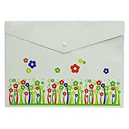 White File Document Folder Opaque Printed Envelope Bag A4 Size Office Supplies Pack Of 12
