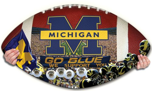 NCAA Michigan Wolverines Football Shaped Puzzle - 1