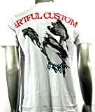 Artful Custom T-shirt Sz M Microphone Rock Punk Biker Vintage Streetwear Indie Skate Board Funky #A3