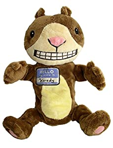 MerryMakers Scaredy Squirrel Plush Hand Puppet, 12-Inch