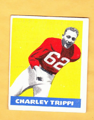 1948 Charley Trippi Rookie Card Chicago Cardinals Plus FREE BONUS 1946 Notre Dame Army Championship Game