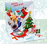 51ajrb8HYwL. SL160  Christmas Greeting Card Sledding Dogs Pop Up