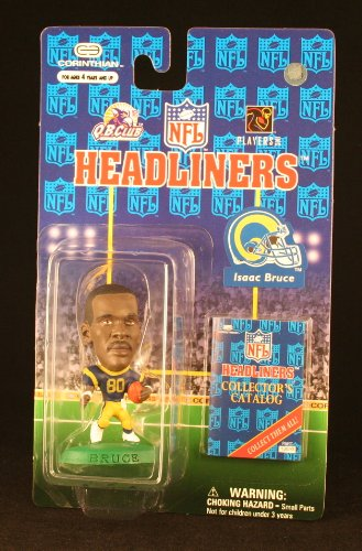 ISAAC BRUCE / ST. LOUIS RAMS * 3 INCH * 1997 NFL Headliners Football Collector Figure