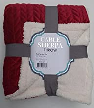 Warm amp Cozy Quilted Holiday Sherpa Throw  Blanket 50quot x 60quot RedCrimson