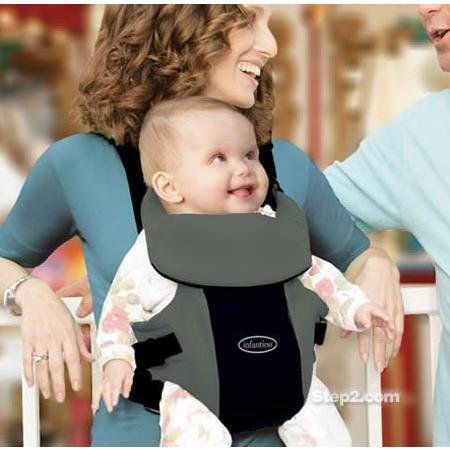 Infantino ComfortRider Baby Carrier - Black & Grey - 1