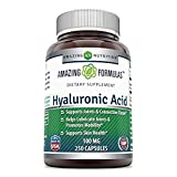 Amazing Formulas Hyaluronic Acid 100 mg 250 Capsules - Support Healthy Connective Tissue and Joints - Promote Youthful Healthy Skin