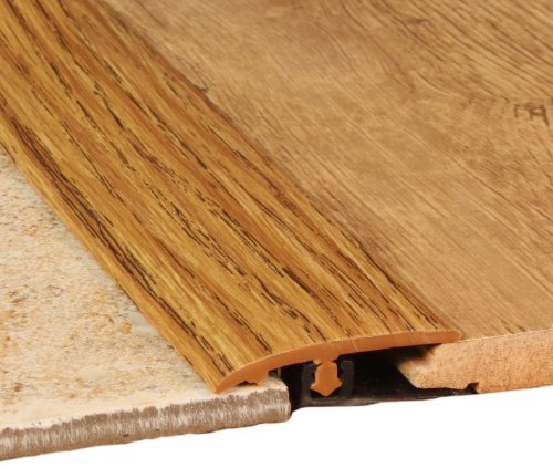 Cal-Flor TT10140 Total Trim All-In-One Wood Grained Molding, 94-Inch, Medium Oak