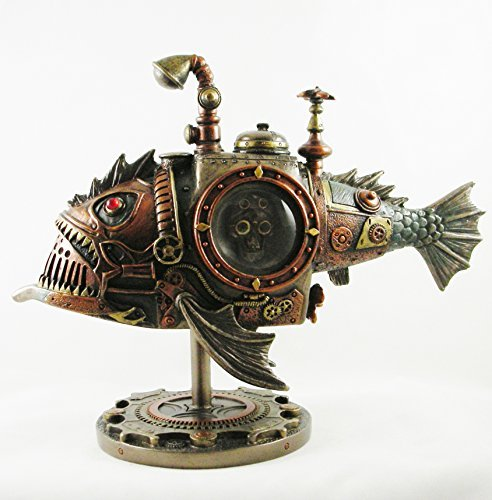 Steampunk Submarine | Sub Piranha | Bronzed Statue Figurine Fantasy Ornament steampunk buy now online
