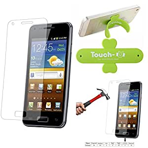 Qualitas Pack of 12 Tempered Glass for LG MAGNA H502F + Touch U Mobile Stand