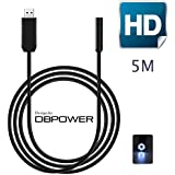 DBPOWER 2 Million Pixels Cmos 5m USB Waterproof Hd 6-led Borescope Endoscope Inspection Tube Visual Camera