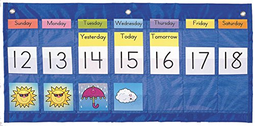Carson Dellosa Weekly Calendar with Weather Pocket Chart (5636) (Weather Pocket Chart compare prices)