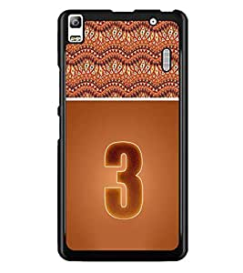 PrintDhaba Numerology Number 3 D-3635 Back Case Cover for LENOVO K3 NOTE (Multi-Coloured)