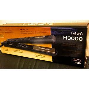 HairArt Ceramic Straightening Iron Model H3000, 1-3/8