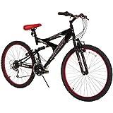 "Dynacraft Men's 26"" 21 Speed Equator Bike, 18""/One Size, Black/Red"