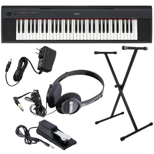 Yamaha piaggero np11 keyboard home bundle w stand pedal for Yamaha thr10 pedals