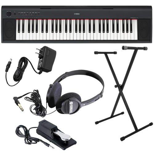 Yamaha piaggero np11 keyboard home bundle w stand pedal for Yamaha np11 piaggero