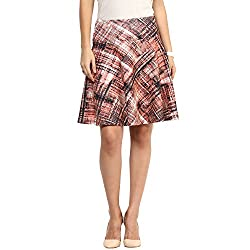 RARE Multi Pleated Above Knee Length Skirts for Women