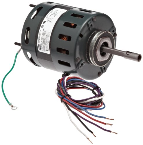 "Fasco D481 4.4"" Frame Open Ventilation Shaded Pole Refrigeration Fan Motor With Sleeve Bearing, 1/10 Hp, 1550Rpm, 115/208-230V, 60Hz, 4.5-2.2 Amps, Ccw Rotation"