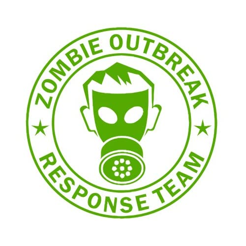 Zombie Outbreak Response Team IKON GAS MASK Design   5 LIME GREEN   Vinyl Decal Window Sticker by Ikon Sign