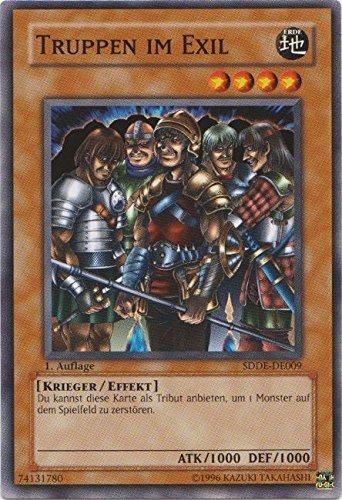 SDDE-DE009 Truppen im Exil 1. Auflage im Set mit original Gwindi Kartenschutzhülle