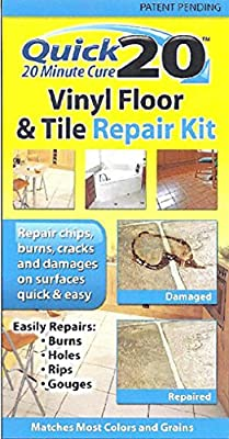 Quick 20 Vinyl Floor and Tile Repair Kit: Repairs chips, cracks, burns, and damages on vinyl and linoleum surfaces.