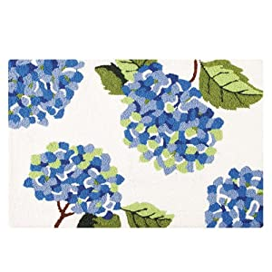 Amazon.com - 2' x 3' Washable Rug, Hydrangeas - Handmade Rugs