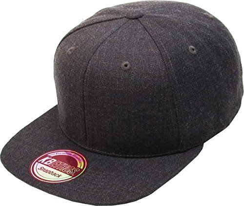 KAW-3467 H.DGY KBETHOS Plain Adjustable Wool Blend Snapback Cap – Classic Solid