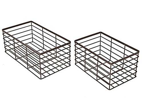 Pro-Mart Wire Basket Organizers, Heavy Duty, Set Of 2 - 1 Medium/1 Large (Wire Basket compare prices)