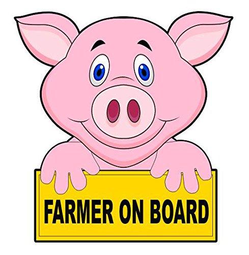 farmer-on-board-pig-car-sticker-auto-adesivi-window-decal-bumper-sign