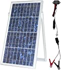 30w Solar Charger Kit // Plug & Play// Waterproof Aluminum Body Charge Contoller - 20 Feet Wire // include Cigarette Plug with Fuse & Alligator Clips Wire