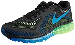 nike air max 2014 mens running trainers 621077 sneakers shoes (uk 7 us 8 eu 41, black photo blue electric green flash lime 005)
