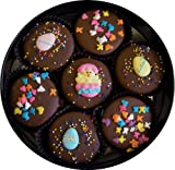 Chocolate Covered Cookies with Spring Sprinkles