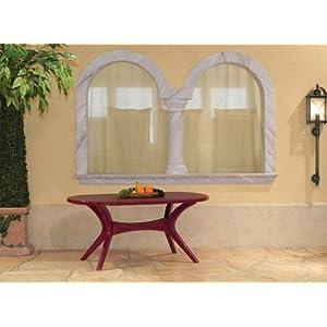 Steiner Lyon Gartentisch Boulevardtisch 150 X 90cm Oval Wetterfest