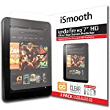 "iSmooth Amazon Kindle Fire HD 7"" Ultra Clear Premium HD Screen Protector 2 Pack (Does NOT fit Kindle Fire HDX or 2nd Generation Fire HD)"