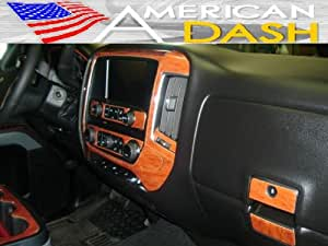 Gmc sierra interior burl wood dash trim kit - 2015 gmc sierra interior accessories ...