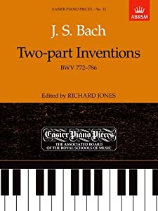 Bach Two-part Inventions Bwv 772-786 Easier Piano Pieces from Associated Board of the Royal Schools of Music