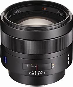 Sony SAL-85F14Z 85mm f1.4 Carl Zeiss Planar T Coated Telephoto Lens for Sony Alpha Digital SLR Camera